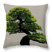 Touch Of Bonsai Throw Pillow