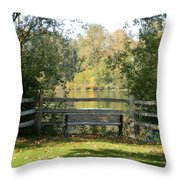 Touch Of Fall In Serenity Throw Pillow