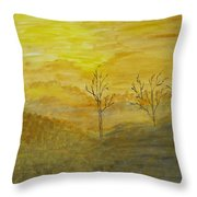 Touch Of Gold Throw Pillow