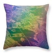 Touch Of Rainbow. Rainbow Earth Throw Pillow by Jenny Rainbow