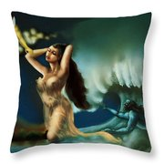 Touch Of The Beautiful Temptress Throw Pillow