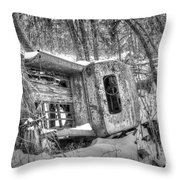 Touch The Past Throw Pillow