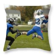 Touchdown Leap Throw Pillow