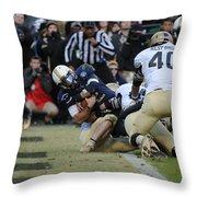 Touchdown Navy Throw Pillow