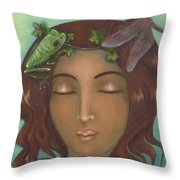 Touched By The Light Throw Pillow