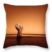 Touching The Last Light Of Day Throw Pillow