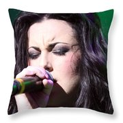 Touching Vocals Throw Pillow