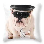 Tough Dog Throw Pillow