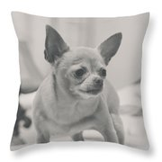 Tough Girl Throw Pillow