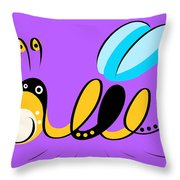 Thoughts And Colors Series Bee Throw Pillow