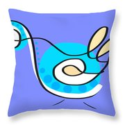 Thoughts And Colors Series Bird Throw Pillow