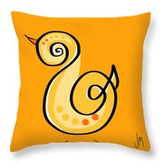 Thoughts And Colors Series Chick Throw Pillow