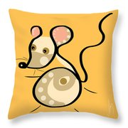 Thoughts And Colors Series Mouse Throw Pillow