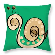 Thoughts And Colors Series Snail Throw Pillow
