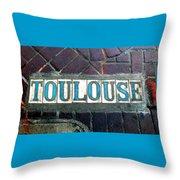 Toulouse Street Throw Pillow