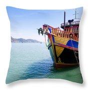 Tour Boat Throw Pillow