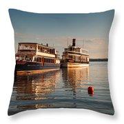Tour Boats Lake Geneva Wi Throw Pillow