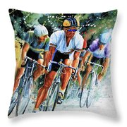 Tour De Force Throw Pillow by Hanne Lore Koehler