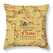 Tour De France 1914 Throw Pillow