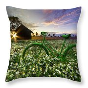 Tour De France Throw Pillow by Debra and Dave Vanderlaan