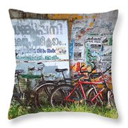 Tour De India Throw Pillow