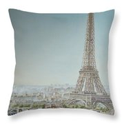 Tour Eiffel 1 Throw Pillow