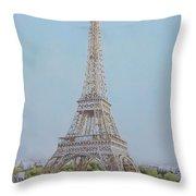 Tour Eiffel 3 Throw Pillow