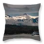 Touring Alaska Throw Pillow