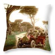 Royal Tourist Touring Car On The 17 Mile Drive Pebble Beach California Circa 1910 Throw Pillow