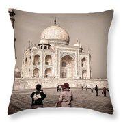 Touring The Taj Throw Pillow
