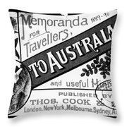 Tourism Australasia, 1889 Throw Pillow