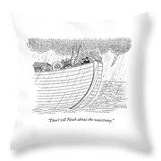 Tourists On Noah's Ark Throw Pillow