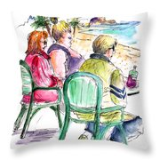Tourists On The Costa Blanca In Spain Throw Pillow