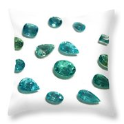 Tourmaline Paraiba Throw Pillow