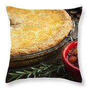 Tourtiere Meat Pie Throw Pillow
