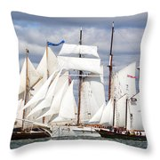 Toward The Finish Throw Pillow