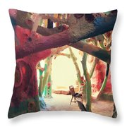 Toward The Light Throw Pillow by Laurie Search