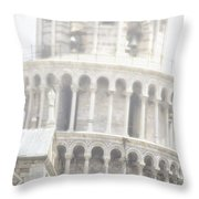 Tower And Fog Throw Pillow
