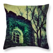 Tower And Trees Throw Pillow