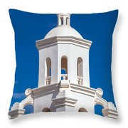 Tower At Mission San Xavier Del Bac Throw Pillow
