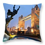 Tower Bridge - London Throw Pillow