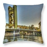 Tower  Bridge 2 Sacramento Throw Pillow