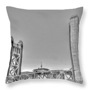 Tower Bridge 3 Sacramento Throw Pillow
