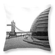 Tower Bridge And London City Hall - Uk Throw Pillow