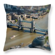 Tower Bridge And London City Hall Aerial View Throw Pillow