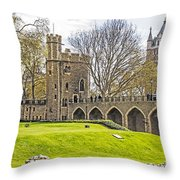 Tower Bridge And London Tower Throw Pillow