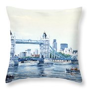 Tower Bridge And The City Of London Throw Pillow