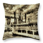 Tower Bridge And The Elizabethan Vintage Throw Pillow