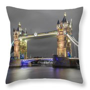 Tower Bridge Color Mix Throw Pillow