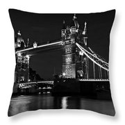 Tower Bridge Evening Throw Pillow